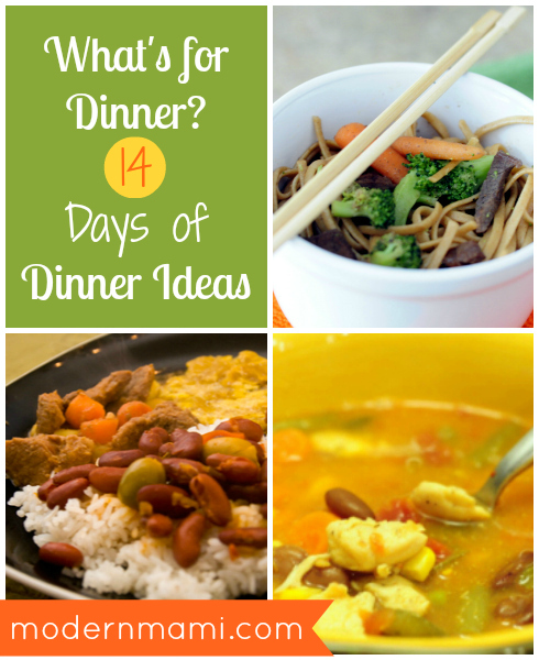 Meals for Dinner: 14 Days of Dinner Ideas