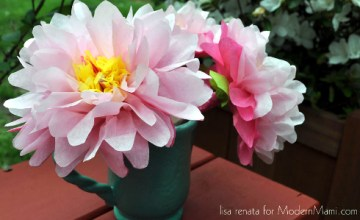 Celebrate Mother's Day with Tissue Paper Flowers! {Kids Craft}