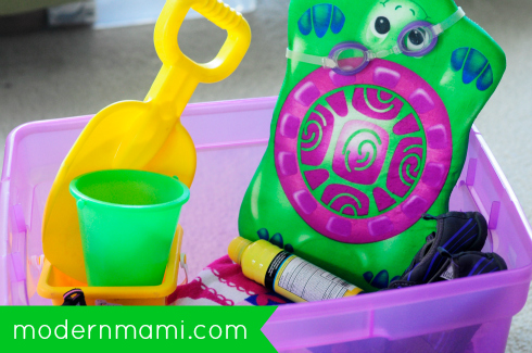 Summer Staycation Tips: Use Bins to Create a Beach Kit