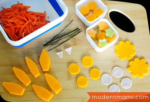 School Lunch Idea: Bento Ranch Turkey Burger Slider, Individual Pieces for Bunny Garden