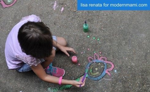 Summer Fun with Homemade Sidewalk Chalk Paint