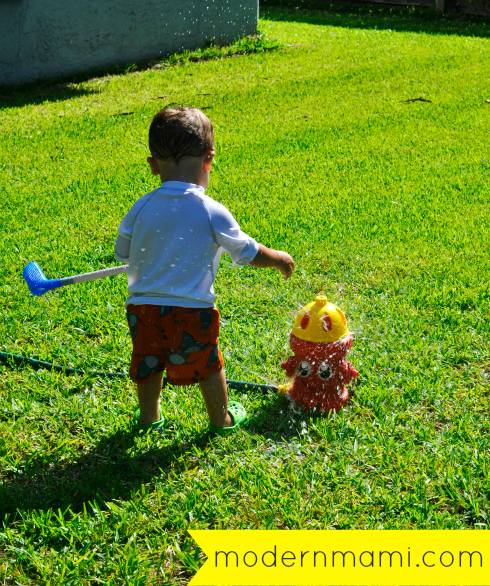 Backyard Summer Fun for Kids with a Water Sprinkler