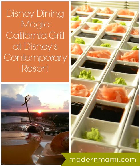 Disney Dining: California Grill at Disney's Contemporary Resort