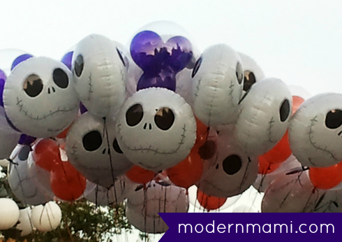Jack Skellington Balloons at Mickey's Not-So-Scary Halloween Party