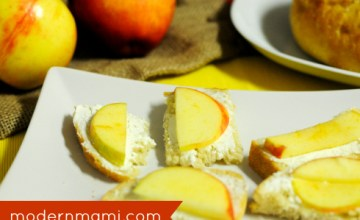Fall Appetizer Idea: Apple and Goat Cheese Crostini {Recipe}