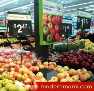 Apple Selection in Walmart Fresh Produce