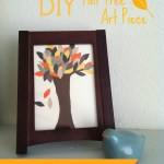 Bring a Bit of Fall Into the Home with a DIY Fall Tree Art Piece {Kids Craft}
