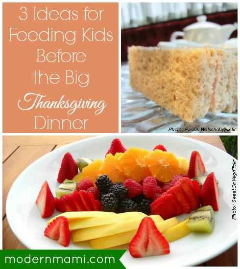 Feeding Kids Before the Big Thanksgiving Dinner