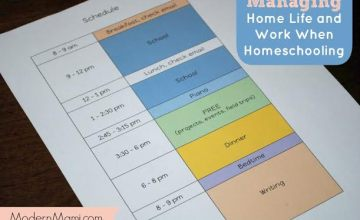 Managing Home Life and Work When Homeschooling