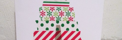 DIY washi tape christmas card