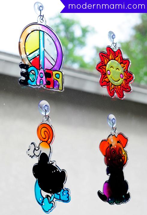 Spring Break Kids Activity: Paint Your Own Suncatchers Kids Craft