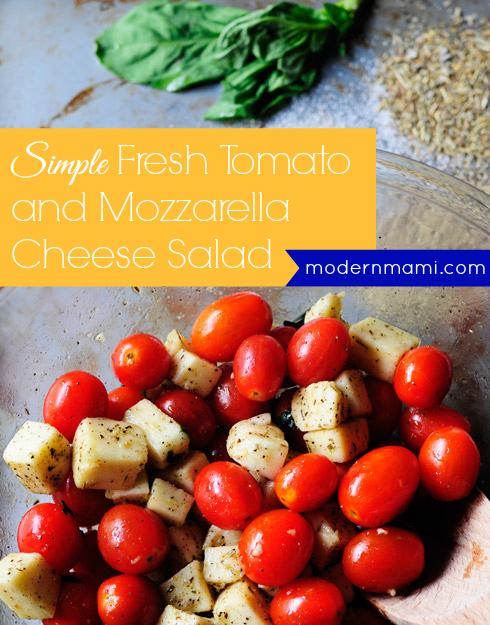Simple Fresh Tomato and Mozzarella Cheese Salad
