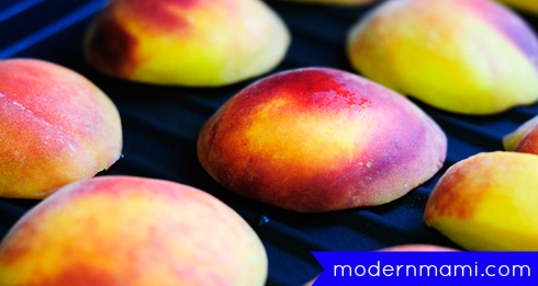 Easy Grilled Peaches Recipe, On the Grill