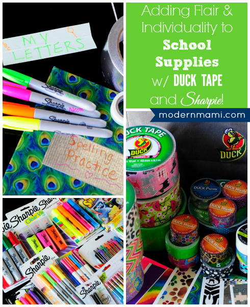 Customize School Supplies with Duck Tape & Sharpie Markers