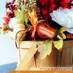 Simple Fall Home Decor: Fall Harvest Floral Centerpiece {Craft}