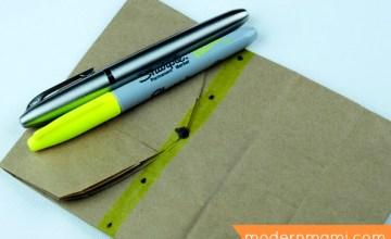 Good Behavior Reward Idea for Preschoolers: Paper Bag Treasure Chest! {Kids Craft}