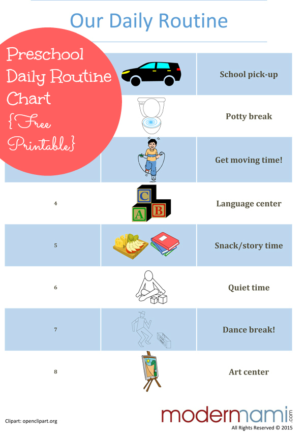 Sample afternoon routine for preschoolers free printable modernmami ibookread Download