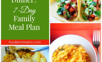 What's for Dinner This Week? Our Family's Meal Plan