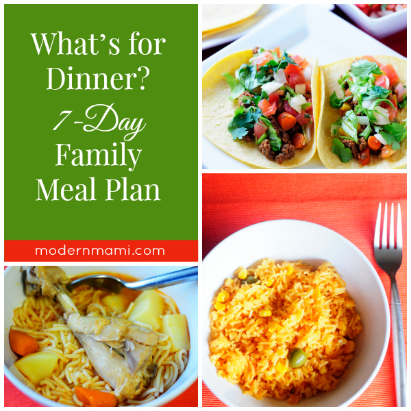 Weekly Meal Plan: Simple Meals for Your Family