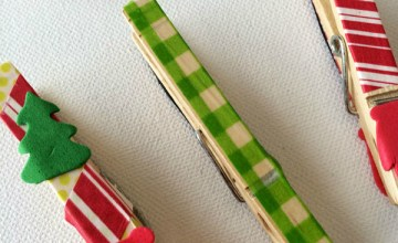 Easy Christmas Crafts for Kids: Washi Tape Wooden Magnets