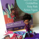 Kids STEM Holiday Gift Idea: GoldieBlox Ruby Rails Skydive Action Figure