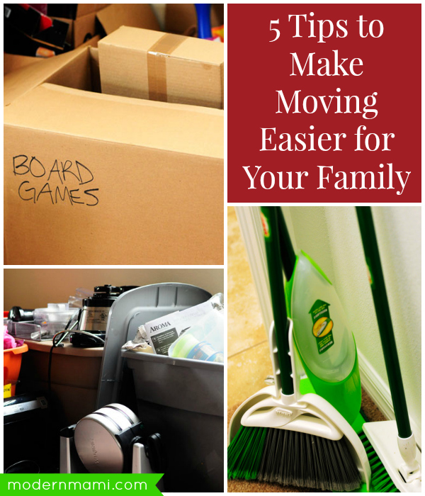 Making Moving Easier: 5 Tips To Make Moving Easier For Your Family {Giveaway
