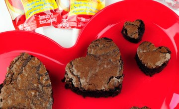 Valentine's Day Brownie Hearts for Kids