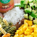 Not-So-Spicy Ginger Mango & Avocado Pasta Salad Recipe {Giveaway}