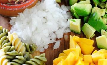 Not-So-Spicy Ginger Mango & Avocado Pasta Salad Recipe {Giveaway}