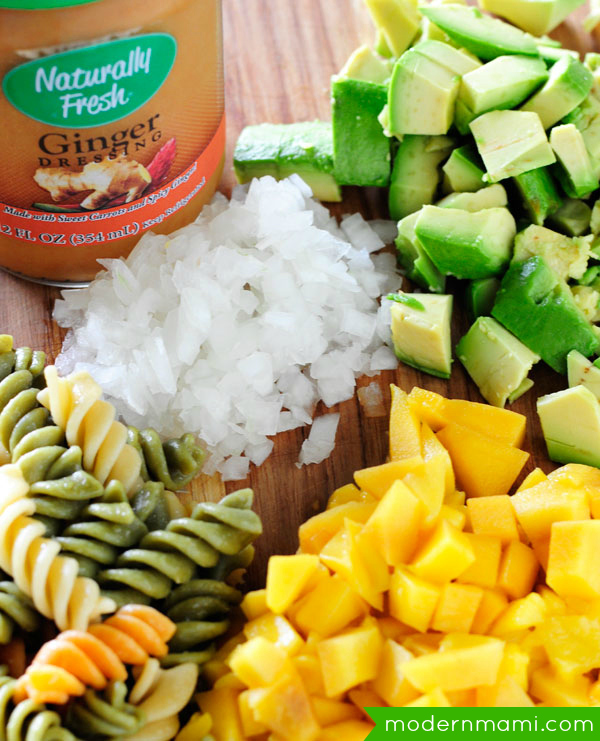 Ginger Mango & Avocado Pasta Salad Recipe