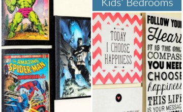 Canvas Wall Art for Easily Decorating Kids' Bedrooms