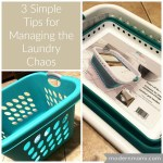 3 Simple Tips for Managing the Laundry Chaos