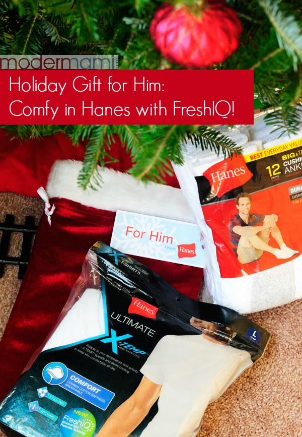 Holiday Gift for Him Idea: Cozy & Comfy in Hanes with FreshIQ!