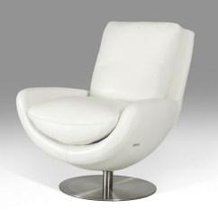 Modern White Leather Club Chair Dining Chairs Bali Divani Casa Salone Full Lounge
