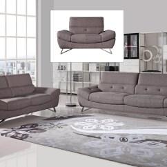 Divani Casa Potash Modern Taupe Fabric Sofa Set Jackson Sofas Australia