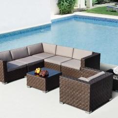 Modern Patio Sofa Grey Corner Sofas Uk Barbados Sectional Outdoor Set