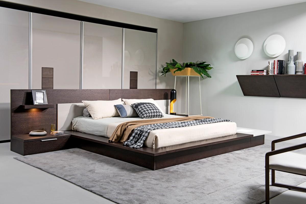 eastern king modern platform bed