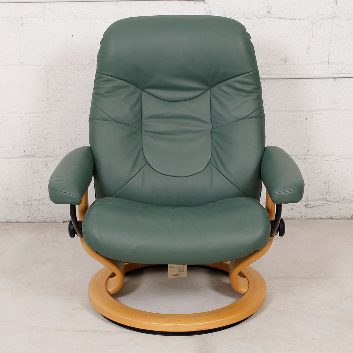 rocking chair leather and wood double with ottoman modern mobler