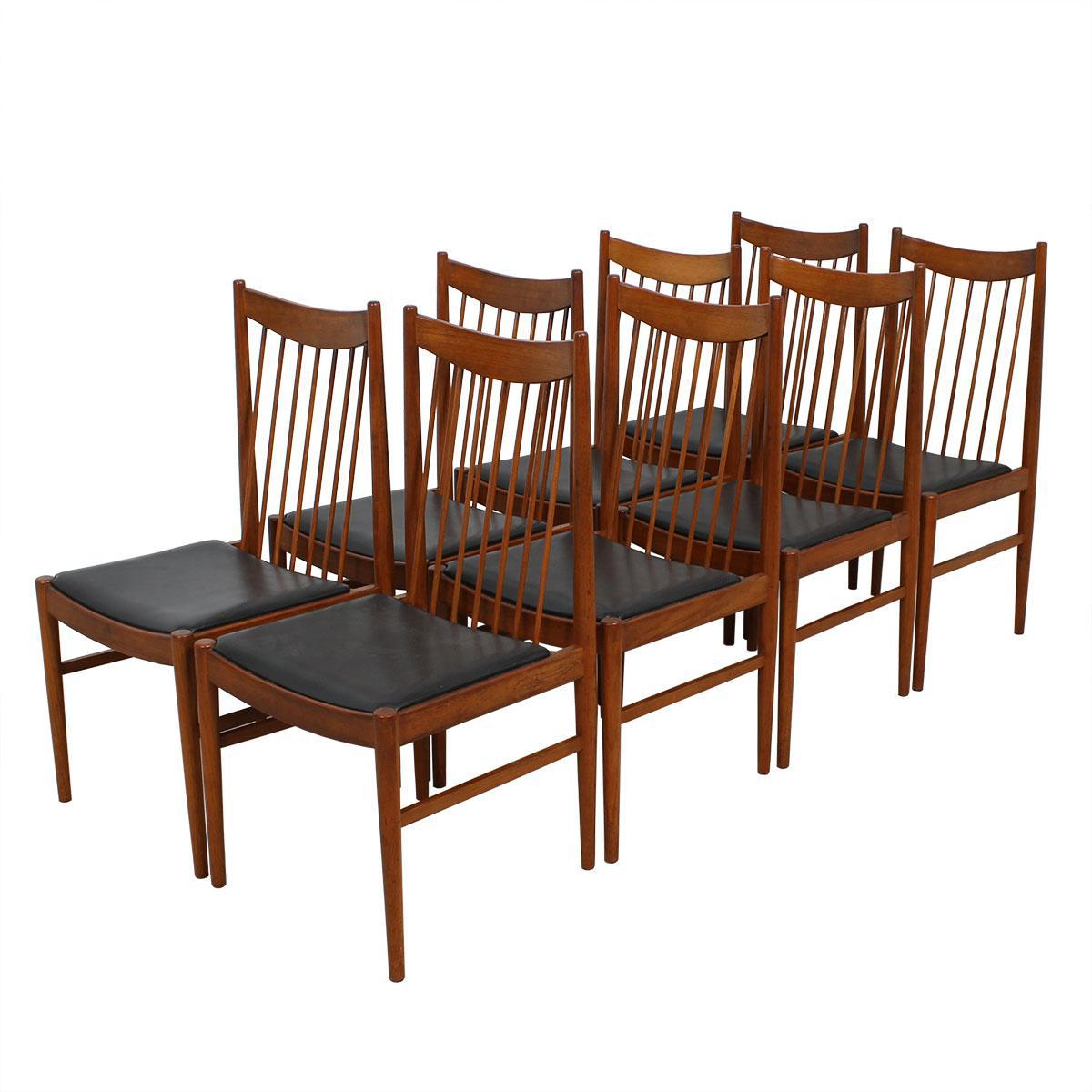 danish dining chair cherry wood room chairs modern mobler set