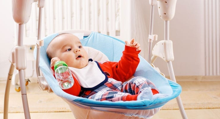 swing chair baby age bean bag chairs amazon youtube how long can a be in