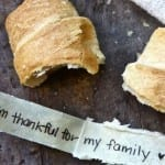 Message Stuffed (Thankful) Crescent Rolls