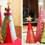 How to Make Wrapping Paper Christmas Tree Decorations