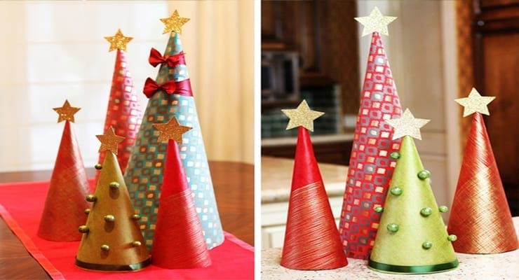 How to Make Wrapping Paper Christmas Tree Decorations  ModernMom
