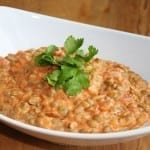 Lentils Smothered In Creamy Homemade Tomato Sauce