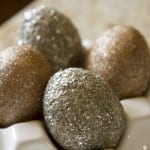Sparkly Glitter Easter Eggs