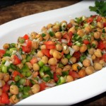 Chickpea Salad Recipe With Lemon, Tomato And Bell Peppers