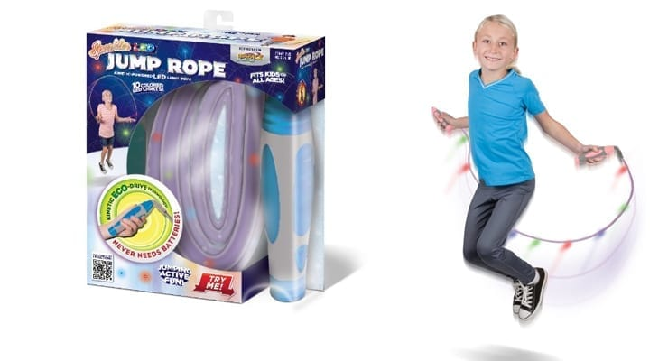 Sparkler™ LED Jump Rope with Kinetic-Powered Lights