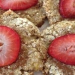 Breakfast Cookies with Banana and Strawberries