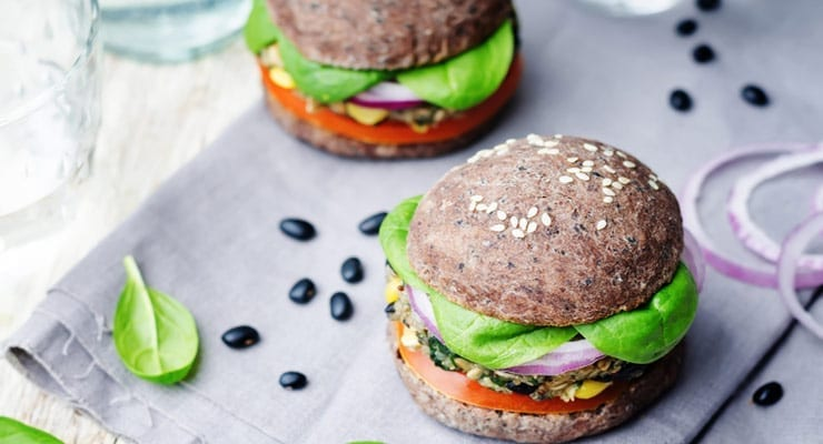 Black Bean and Corn Veggie Burgers