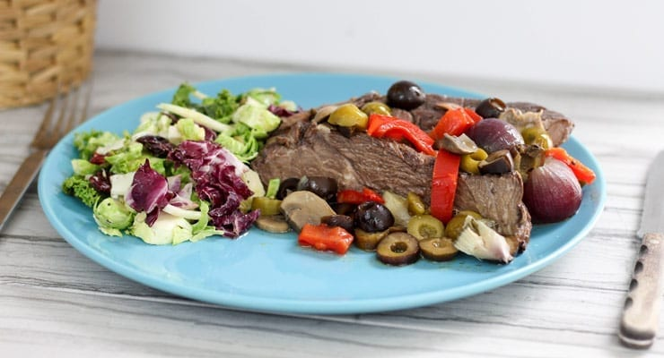 Slow Cooker Harvest Pot Roast Dinner with California Ripe Olives